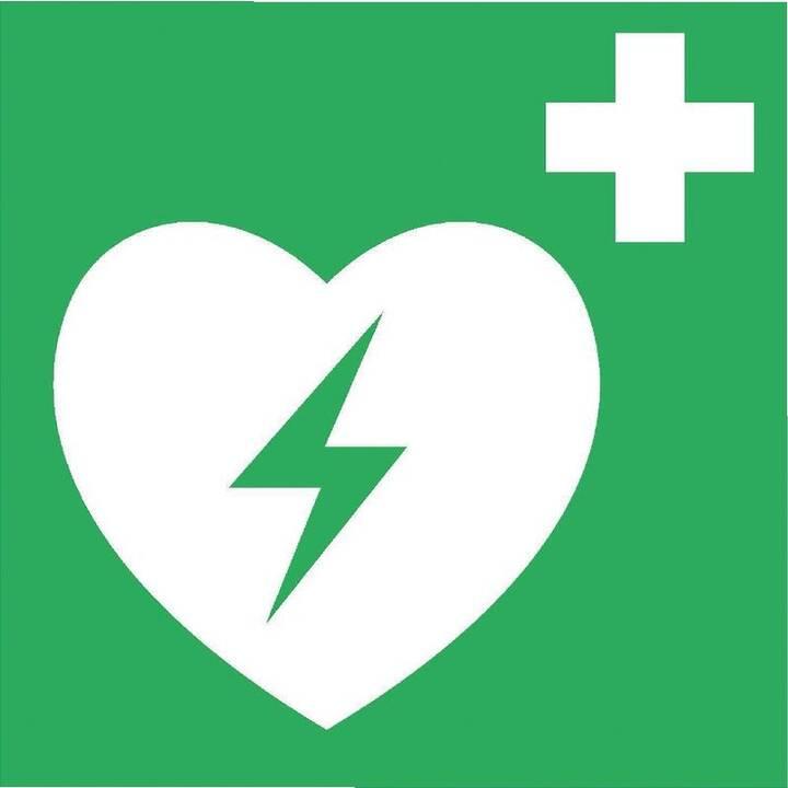 BRW Warnschild Automatisierter externer Defibrillator