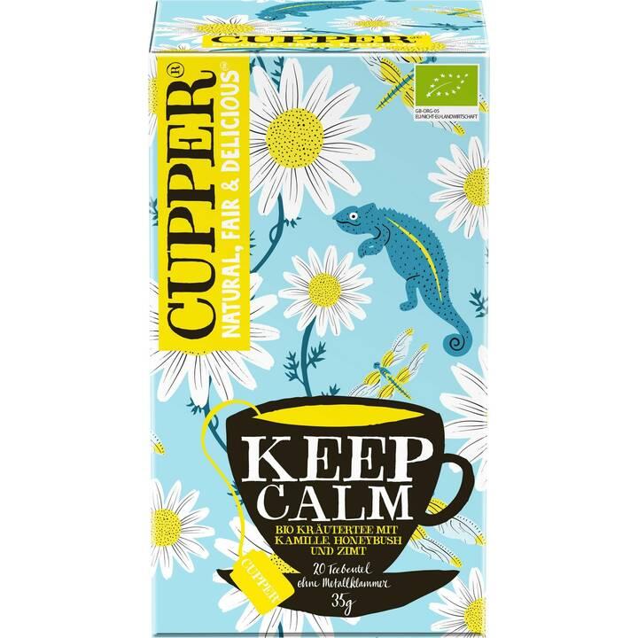CUPPER Keep Calm Tè d'erbe (Bustina di tè, 20 pezzo)