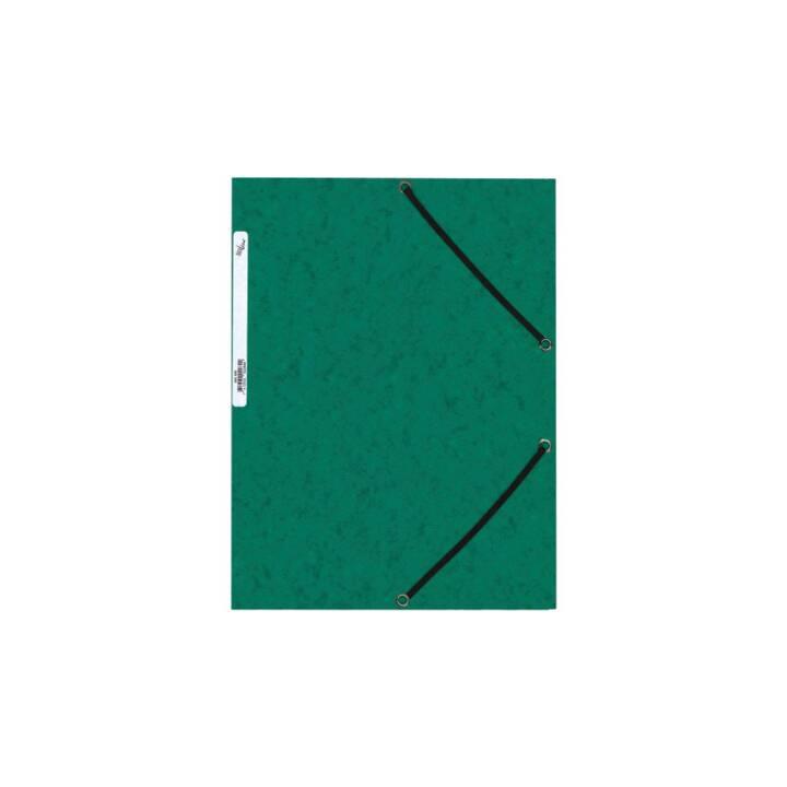 Cartella elastica BÜROLINE A4 verde