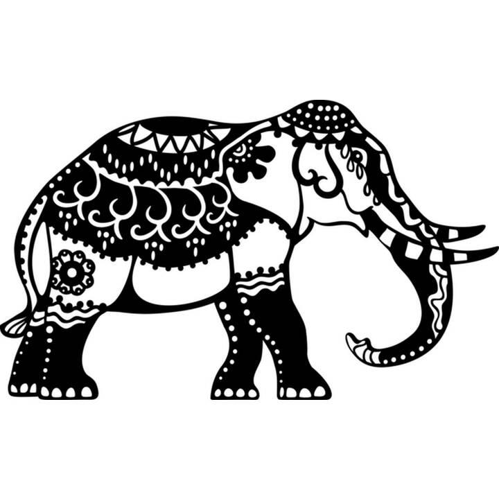 MARABU Stencil sagoma di sagoma Elefante Indiano
