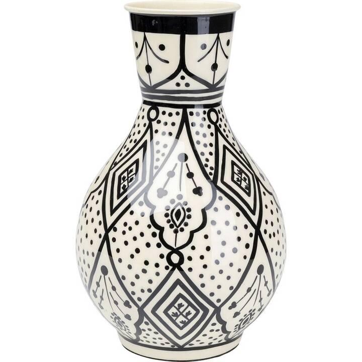 KARE Vase Bohemian (29 cm x 18 cm, Schwarz, Weiss)