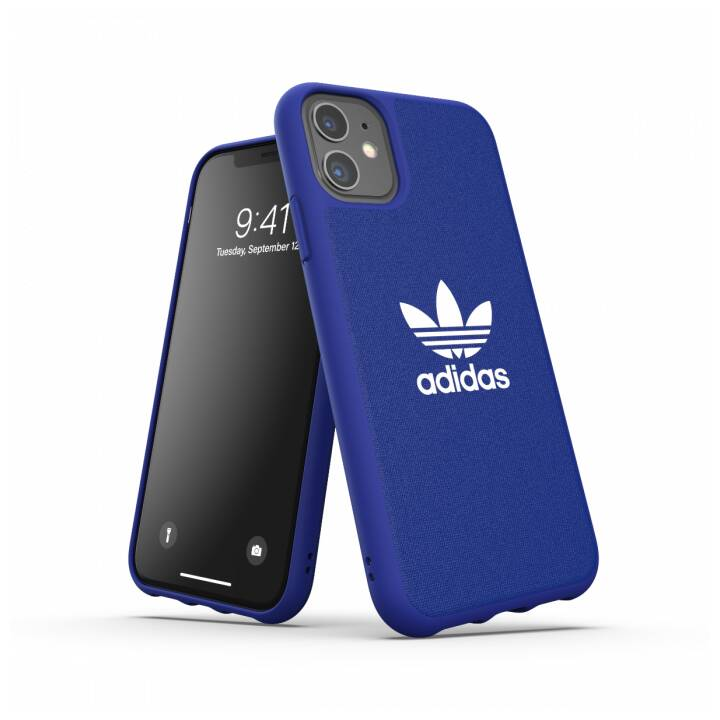 ADIDAS Backcover Moulded Canvas (iPhone 11, Blu)