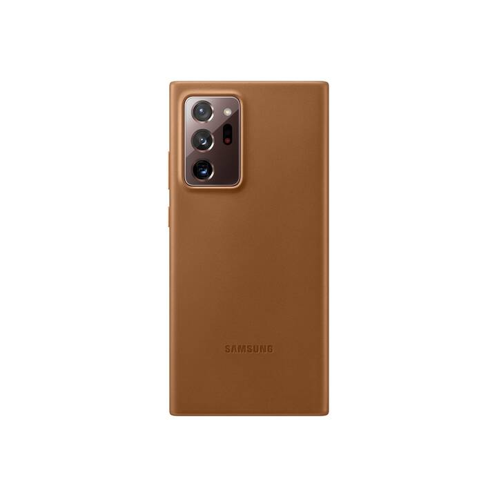 SAMSUNG Backcover Leather (Galaxy Note 20 Ultra, Galaxy Note 20 Ultra 5G, Braun)