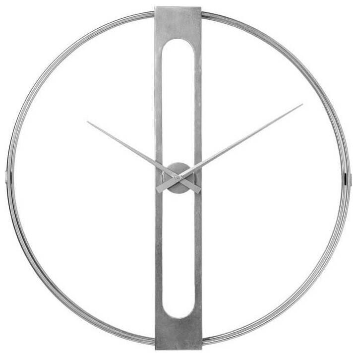 KARE Clip Analoge Wanduhr (107 cm, Silber)