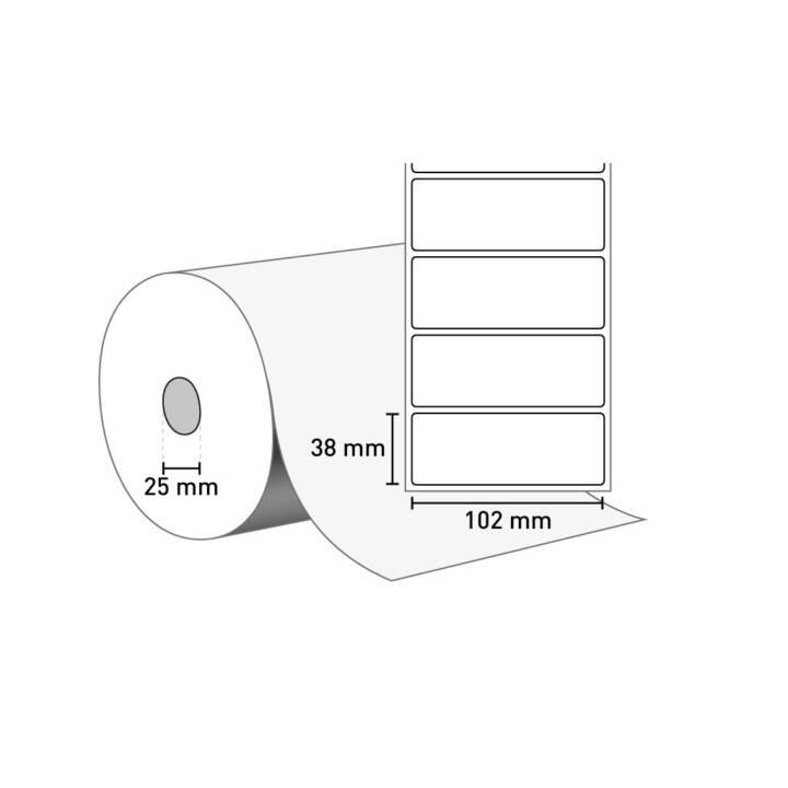 ZEBRA Etiketten Z-Select 2000D, 21480 Stück