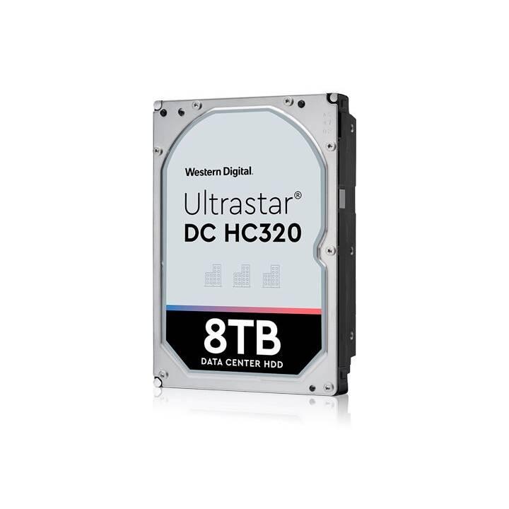 HGST Ultrastar DC HC320 (SATA, SAS, 8 TB, Noir, Argent)