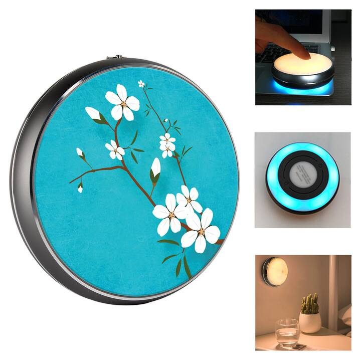 EG MTT Veilleuse LED USB portable dia.9 x 3.2cm - Fleur