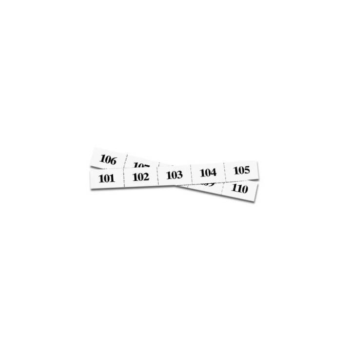 RIEFFEL Numéros de remorque, blanc, set 1-100