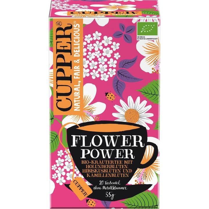 CUPPER Flower Power Tè d'erbe (Bustina di tè, 20 pezzo)
