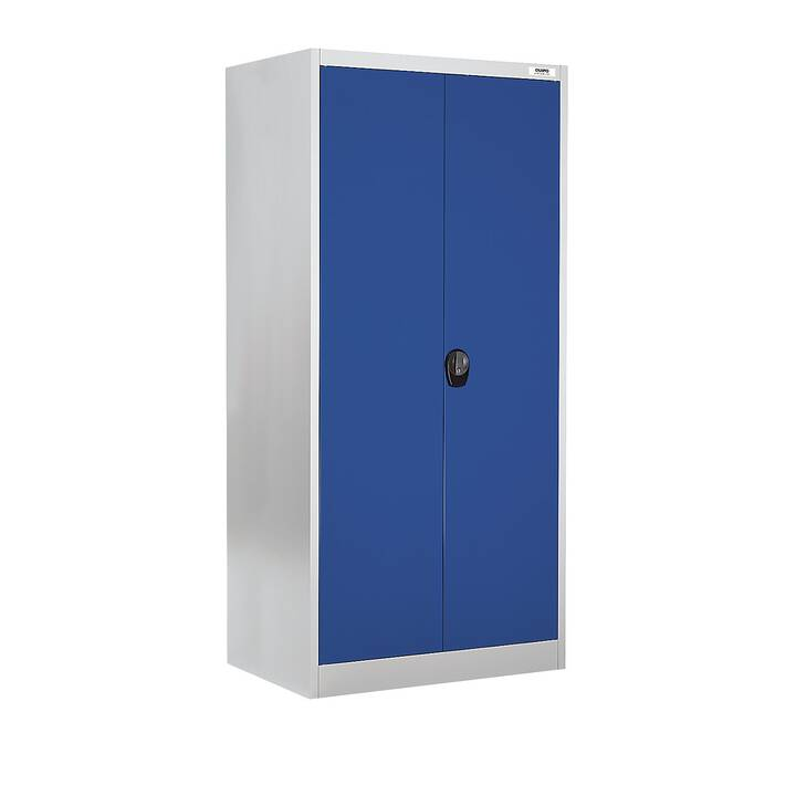 QUIPO Büroschrank (Silber, Blau)