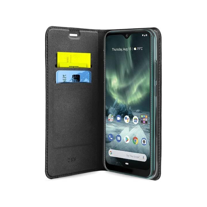 SBS Flipcover Preto (Nokia 7.2, Schwarz)