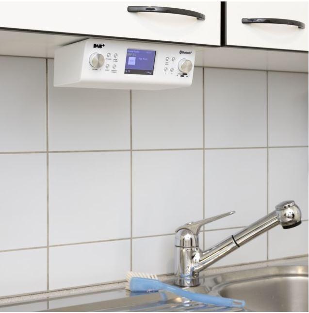 INTERTRONIC RA-23 Radio pour cuisine / -salle de bain (Blanc)