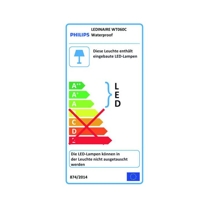 PHILIPS Tube LED Ledinaire WT060C (LED incorporé, 3600 lm, 33 W)