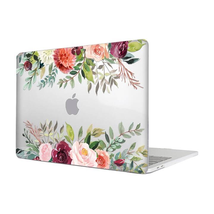"""EG MTT Housse pour MacBook Pro 13"""" Touchbar (2016 - 2018) - Fleurs"""