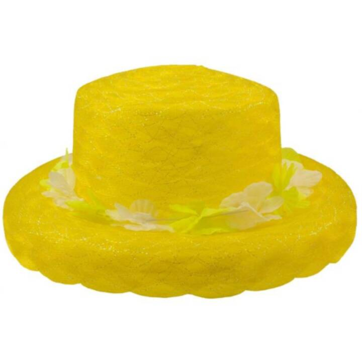 FOLAT Organza hat neon gelb Costumes pour adultes