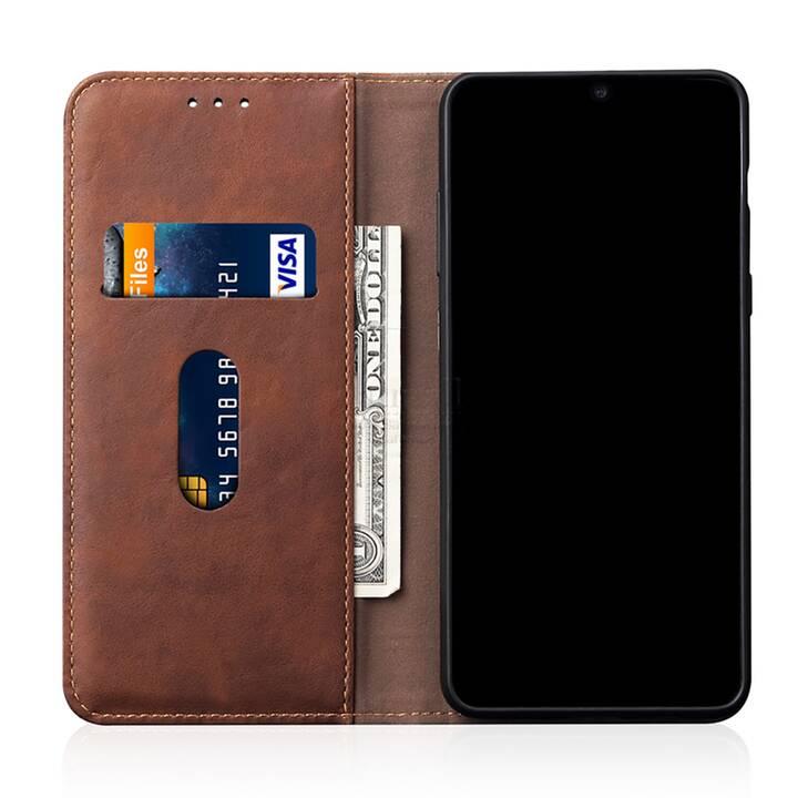 """EG Mornrise étui portefeuille pour Samsung Galaxy S20 6.2"""" 2020 - marron"""