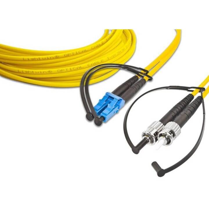 LIGHTWIN Cavo di rete (ST Single-Modus, LC Single-Modus, 3 m)