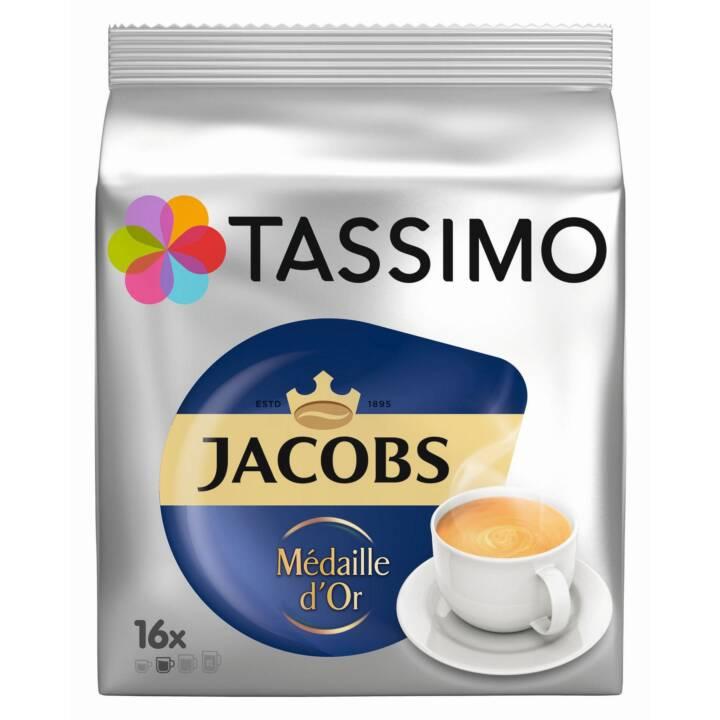 TASSIMO Capsules de Café Café crème Jacobs Médaille d'Or (16 Pièce)