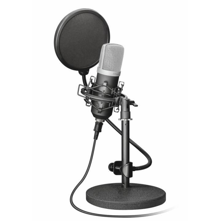 TRUST 21753 Studiomikrofon (Schwarz, Silber)