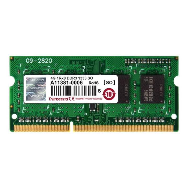 TRANSCEND TS512MSK64V3H, 4 GB, DDR3, DONC DIMM 204-PIN