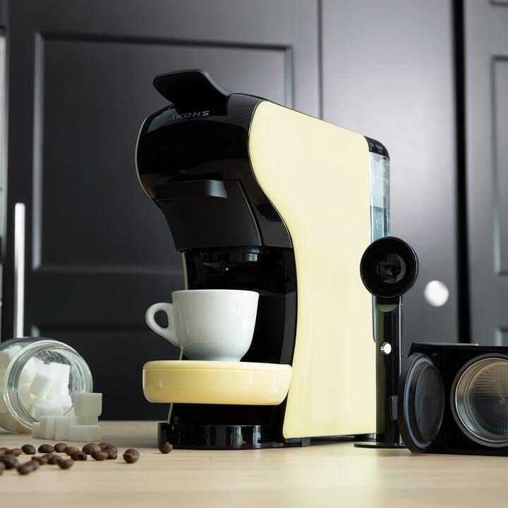 IKOHS Cafetera (Dolce Gusto, Nespresso, Jaune)