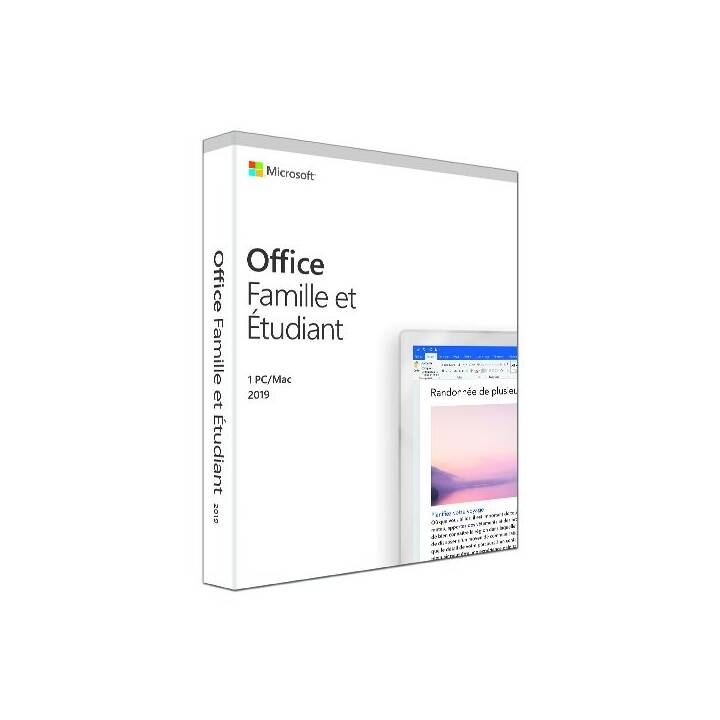 MICROSOFT Office Famille & Étudiant 2019 (Vollversion, 1x, Französisch)