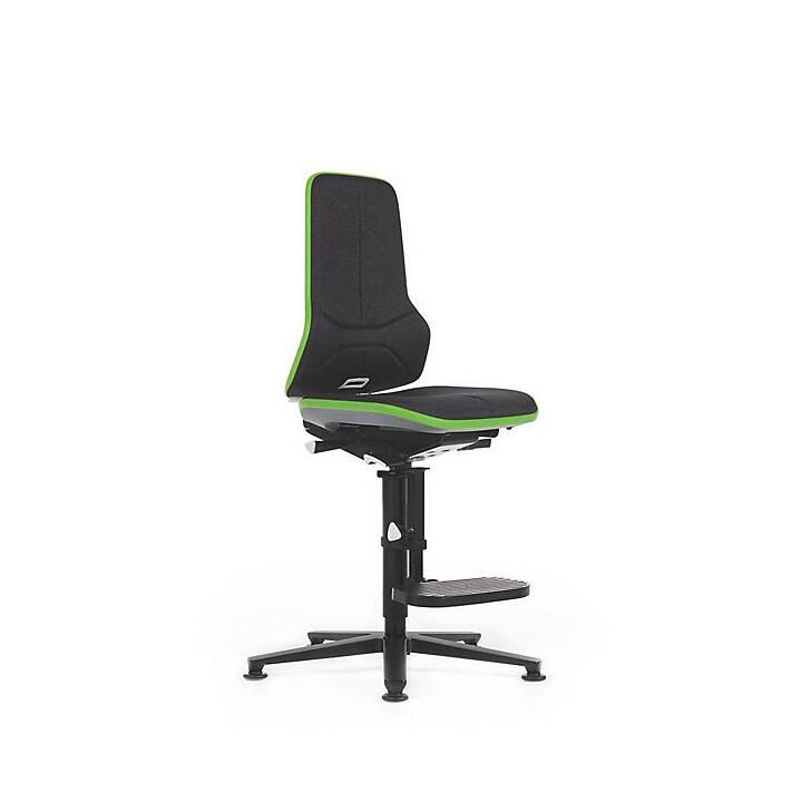 BIMOS Neon, inkl. Gleiter, Sitzhöhe 590 - 870 mm Sedi operative (Nero, Verde)