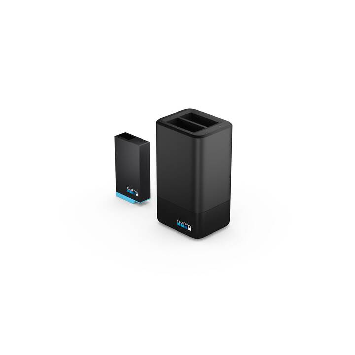 GOPRO Dual Battery Charger + Battery Caricabatterie (Nero)