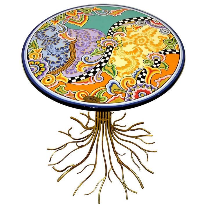 TOM'S DRAG Tavolo da pranzo Malaga (59 cm x 59 cm x 72 cm, Multicolore, Metallo)