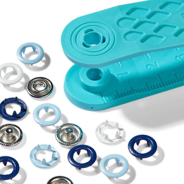 PRYM GROUP Boutons poussoirs (Bleu, Blanc, Métal)