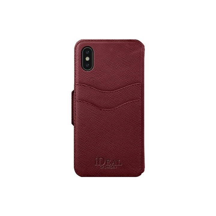 IDEAL OF SWEDEN Flipcover Fashion Wallet burgundy (iPhone X, iPhone XS, Rot)