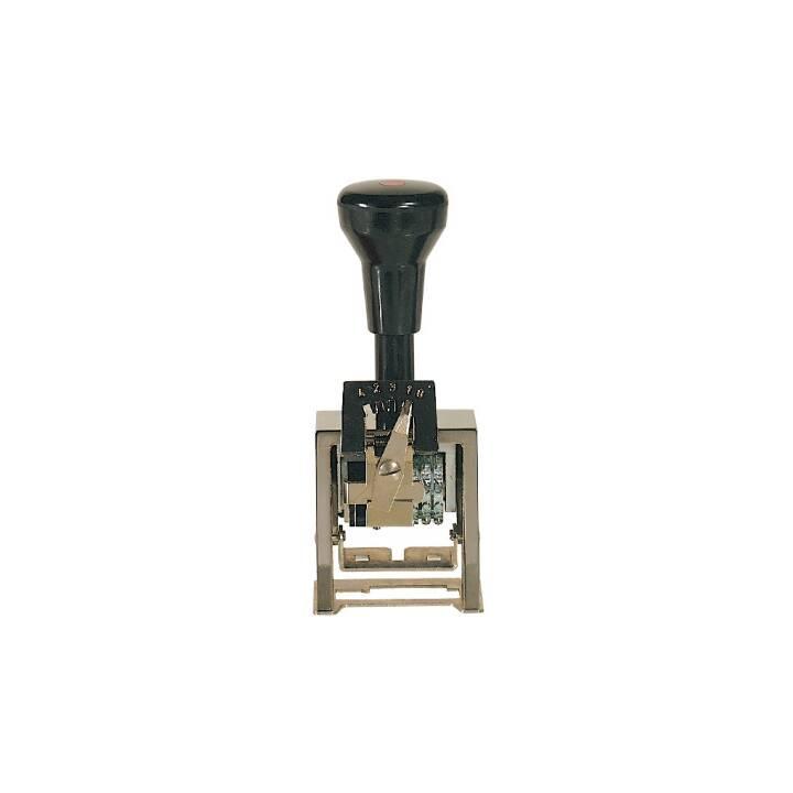 REINER B2 Blocco numero blocco blocco blocco timbro, 5,5 mm, nero