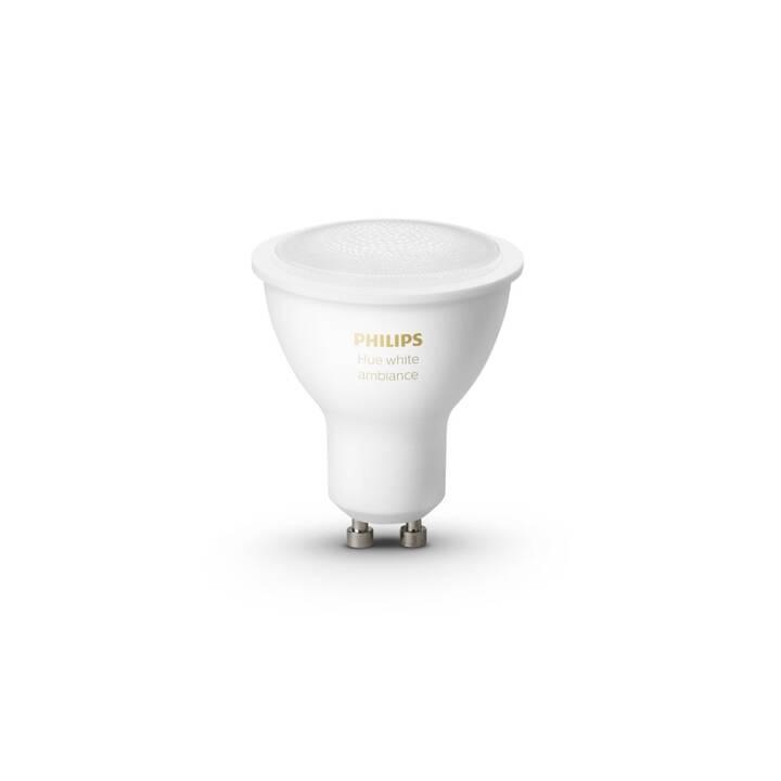 PHILIPS HUE Lampadina LED White Ambiance BT (GU10, ZigBee, Bluetooth, 5 W)