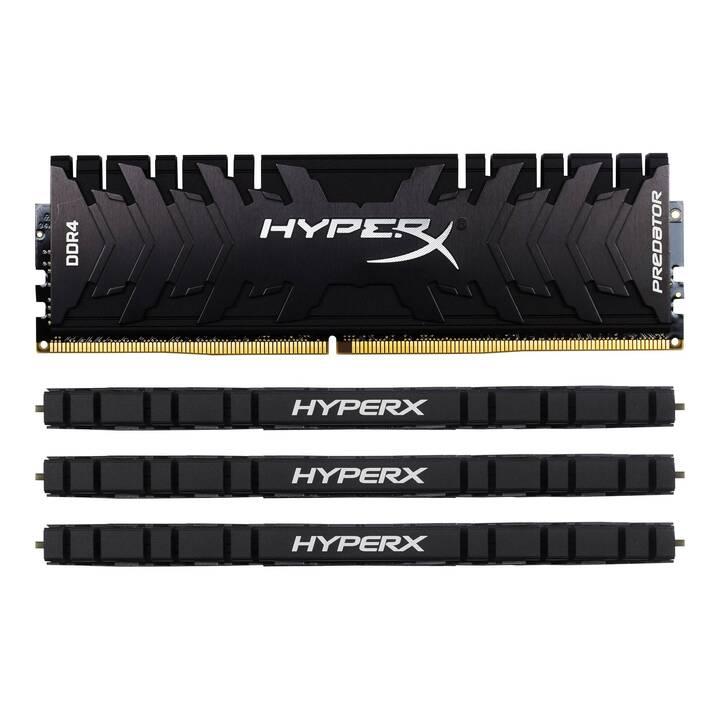 KINGSTON TECHNOLOGY HyperX Predator (4 x 32 GB, DDR4-3600, DIMM 288-Pin)