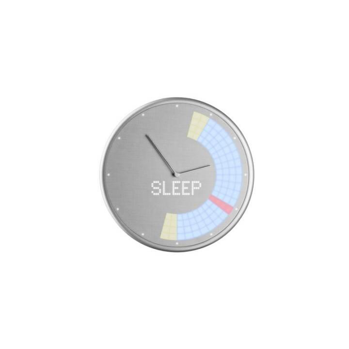 GLANCE CLOCK Smart Home Orologio da parete analogico e digitale  (22.7 cm, Argento)