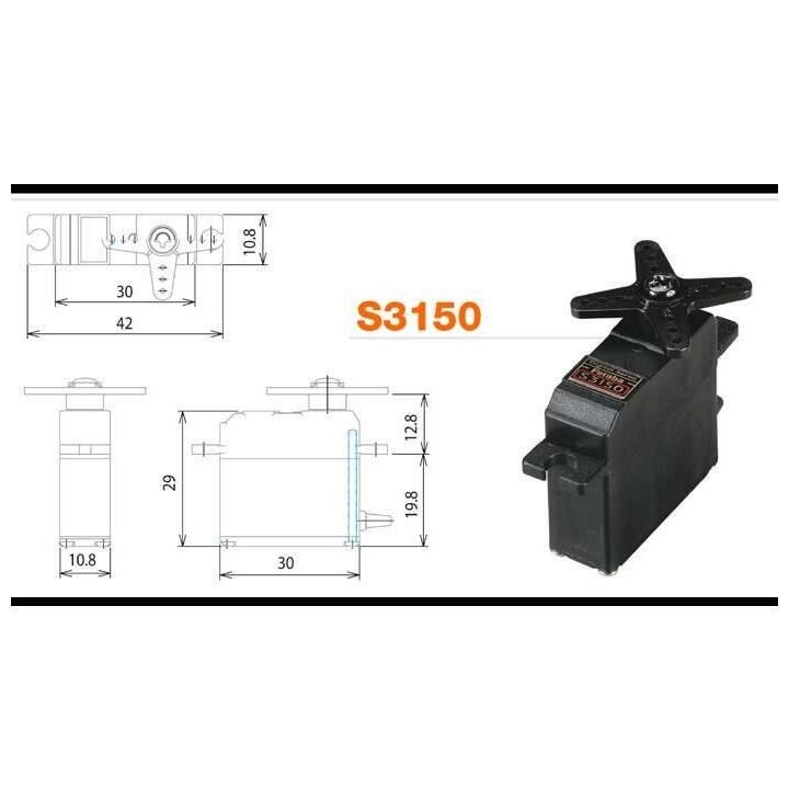 FUTABA Servocommande S3150 (Digital)