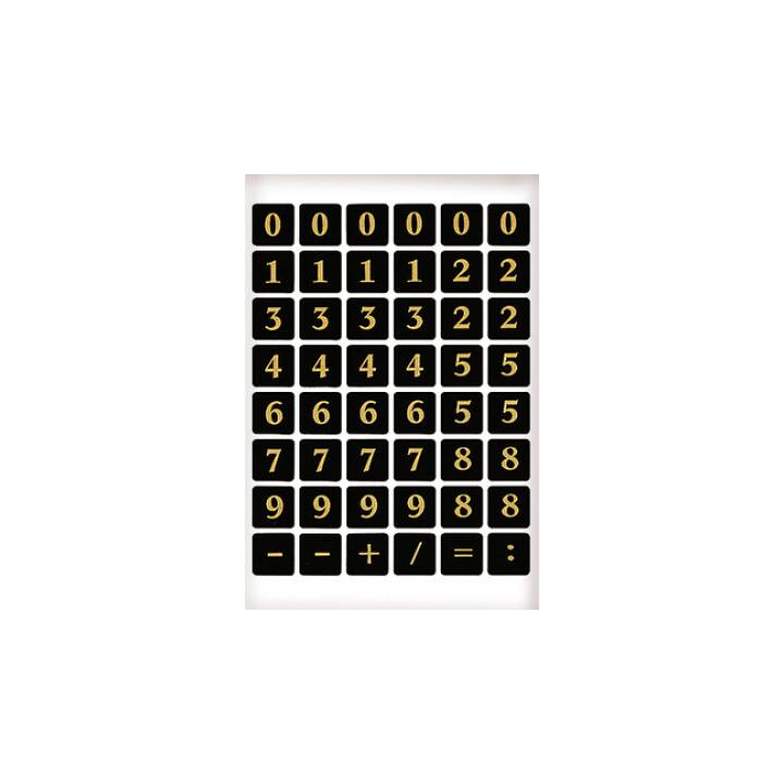 Feuille HERMA 13×13mm 1-9 2 pièces