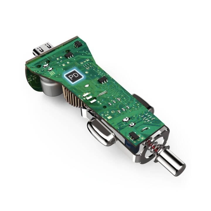 HAMA Kit de chargement de voiture, port USB Type-C, alimentation (PD)