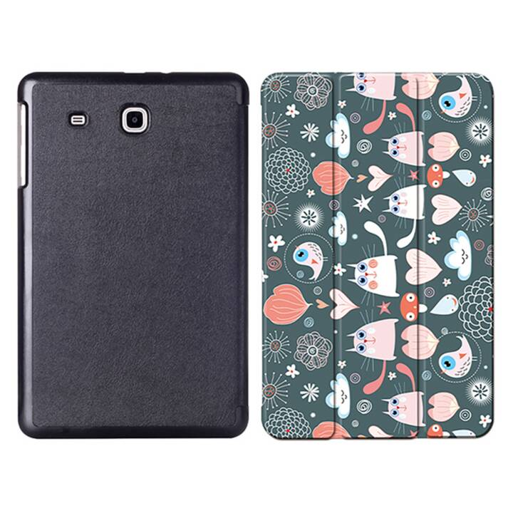 "EG MTT Sacoche à comprimés avec couvercle rabattable pour Samsung Galaxy Tab E 9.6"" - Cartoon Cats"