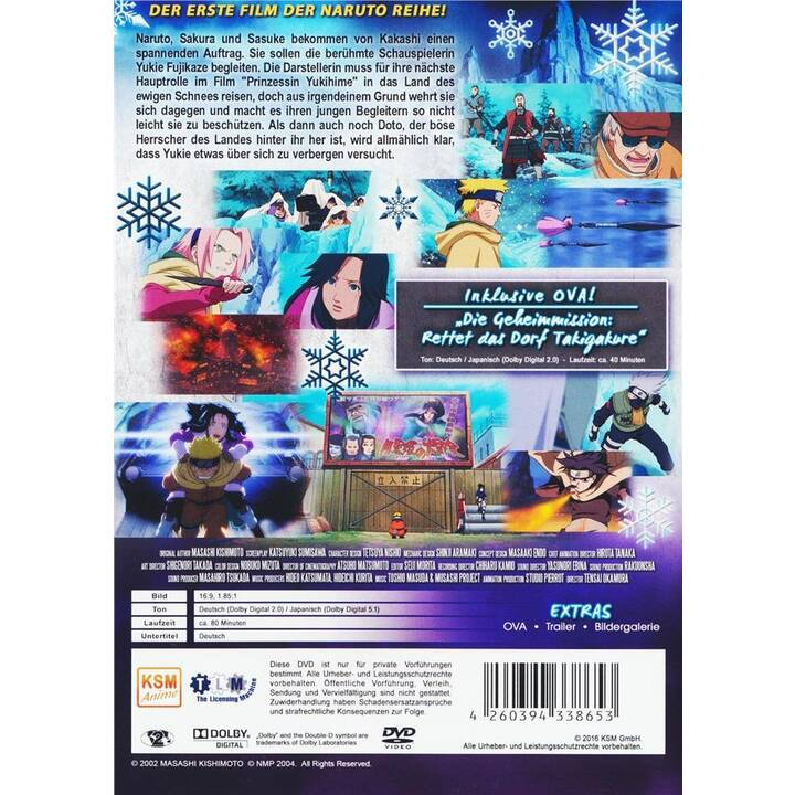 Naruto - The Movie - Geheimmission im Land des ewigen Schnees (JA, DE)