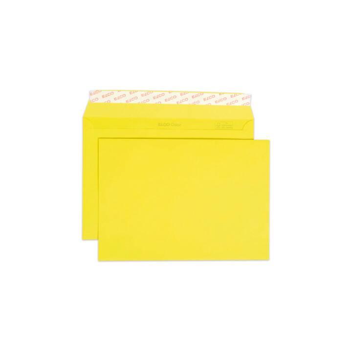ELCO Couvert Colore senza finestra C5, 100g, giallo, 250 pezzi