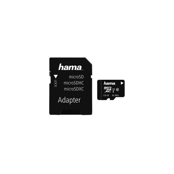 HAMA MicroSDXC (Class 10, 128 GB, 80 MB/s)