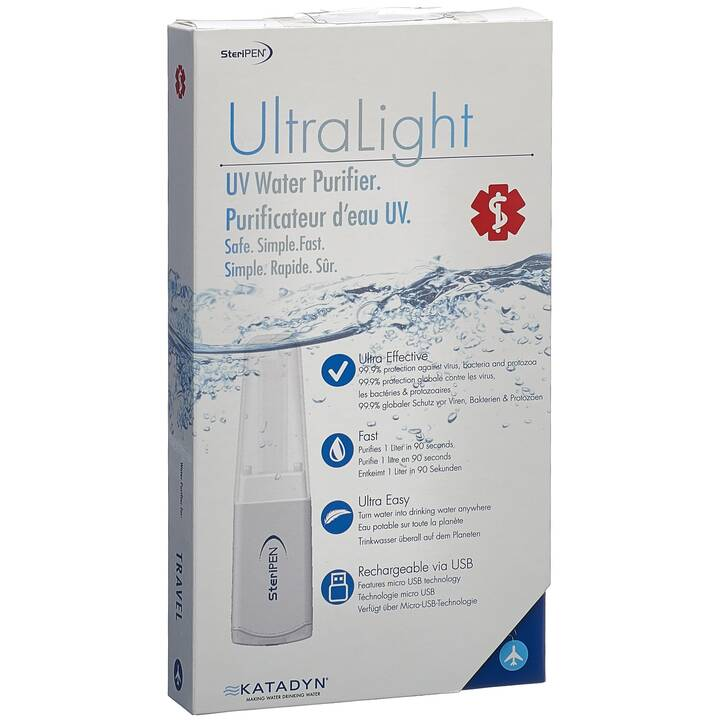 STERIPEN Disinfectione dell aqua Ultra Light (Bianco)
