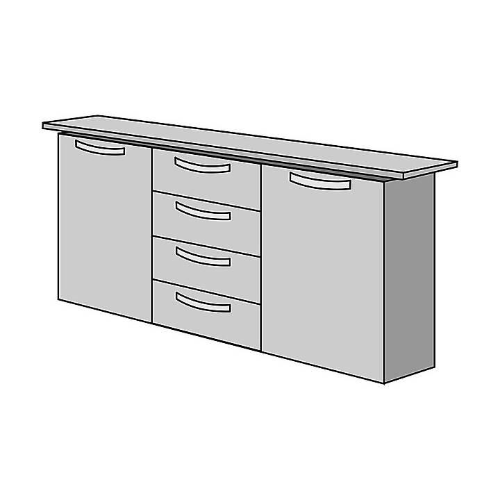 OFFICE AKKTIV Status Sideboard (86 cm x 150 cm x 40 cm)