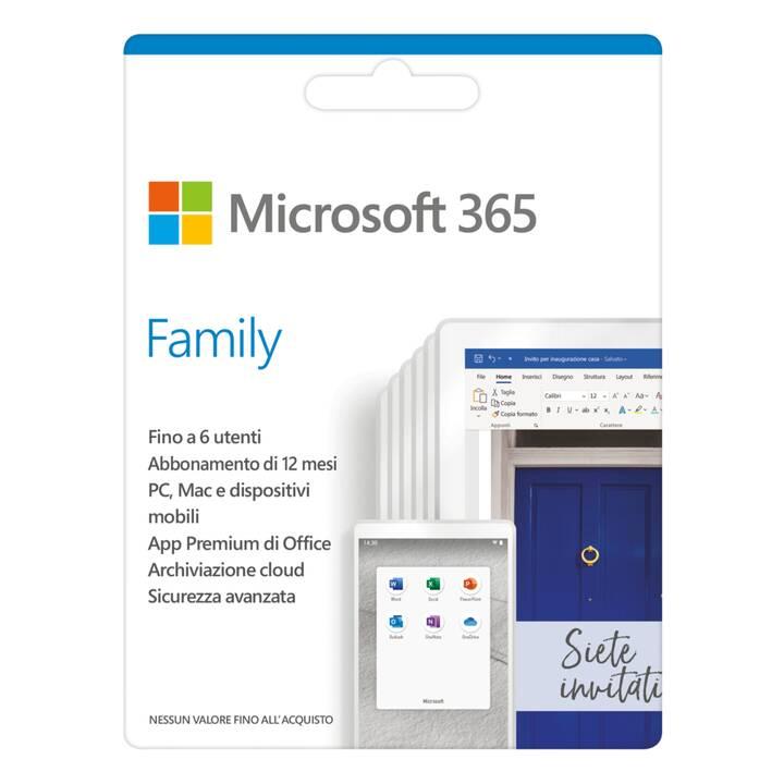 MICROSOFT 365 Family (Abo, 6x, 1 Jahr, Italienisch)