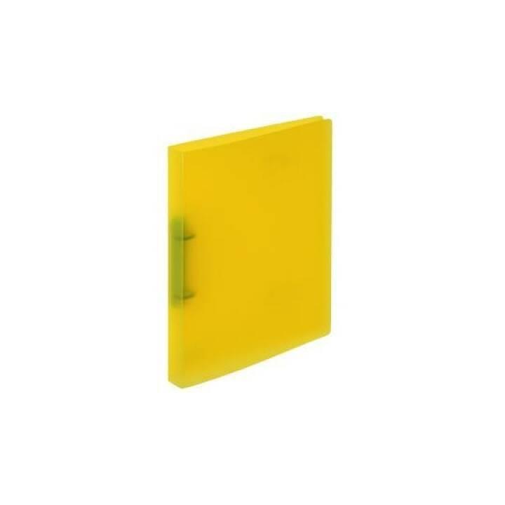 KOLMA RACER legante ad anelli Easy Kolmaflex A4 giallo A4 2 anelli 16mm
