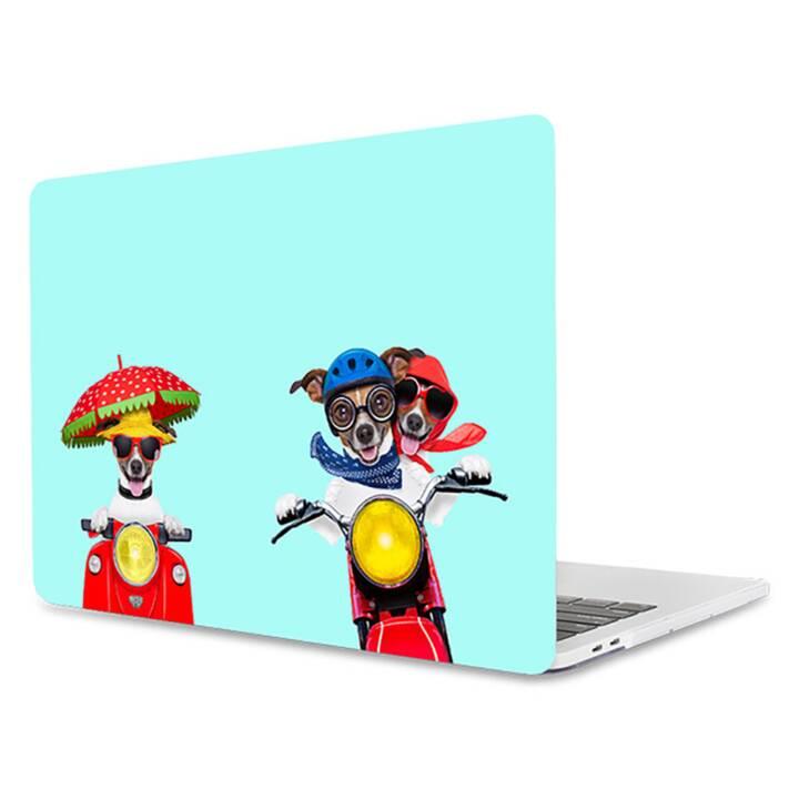 """EG MTT Laptop-Cover für Macbook Pro 13"""" CD-ROM - lustige Mint-Hunde"""