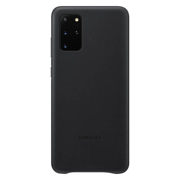 SAMSUNG Backcover Leather (Galaxy S20+, Schwarz)