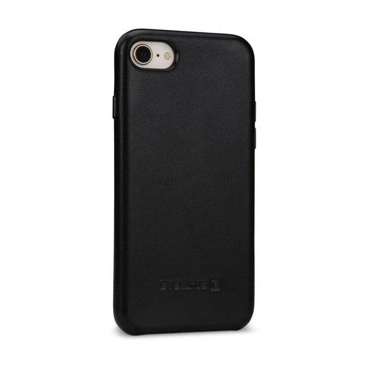 EVELATUS Backcover Leather Case Prestige (iPhone 7, iPhone 8, Schwarz)