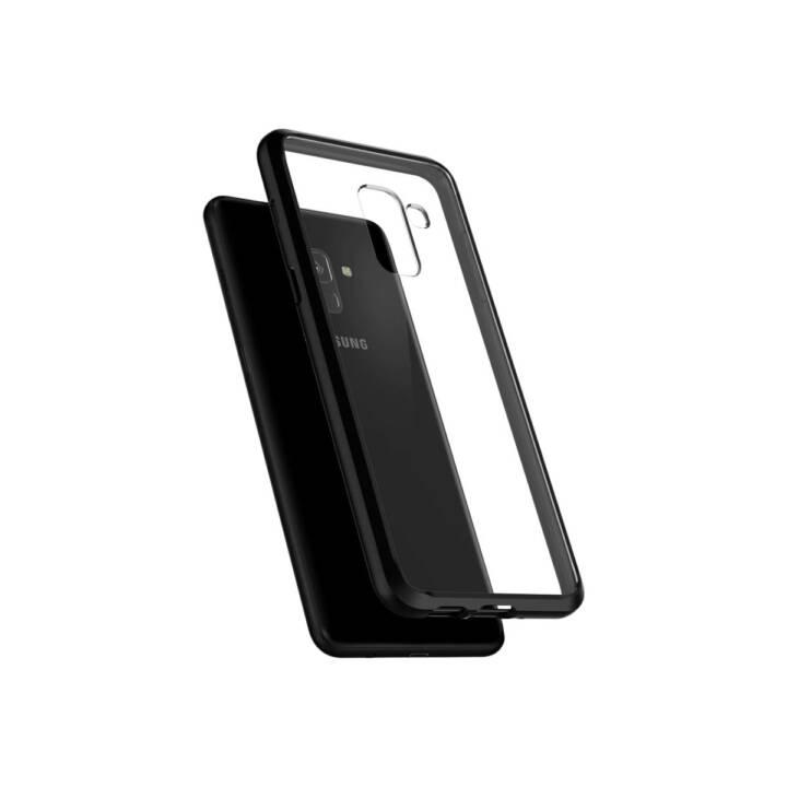 SPIGEN Backcover Ultra Hybrid (Galaxy A8 (2018), Schwarz)